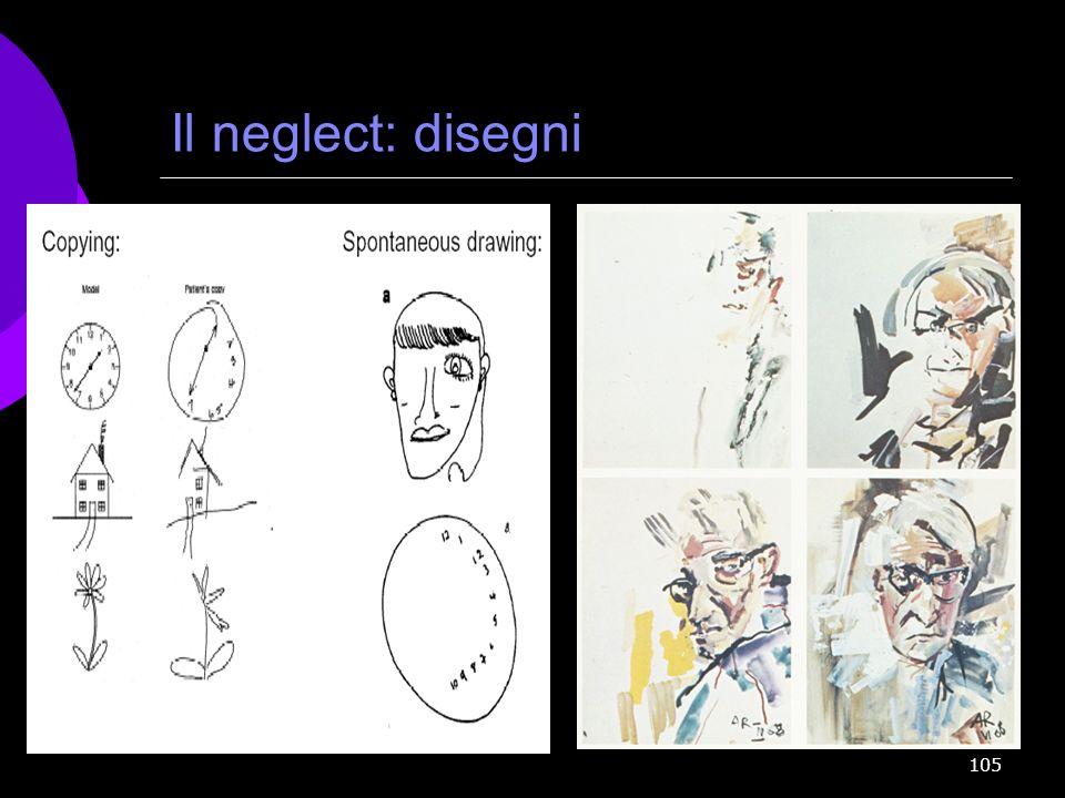 Il neglect: disegni