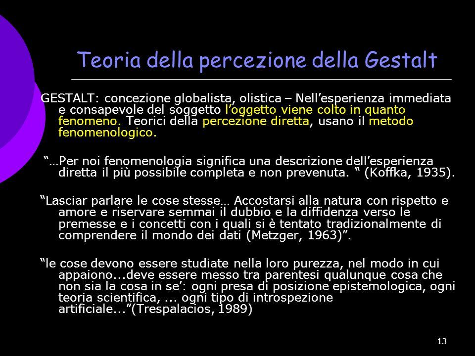 Teoria della percezione della Gestalt