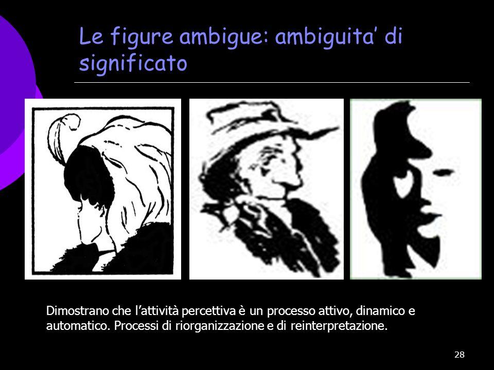 Le figure ambigue: ambiguita' di significato