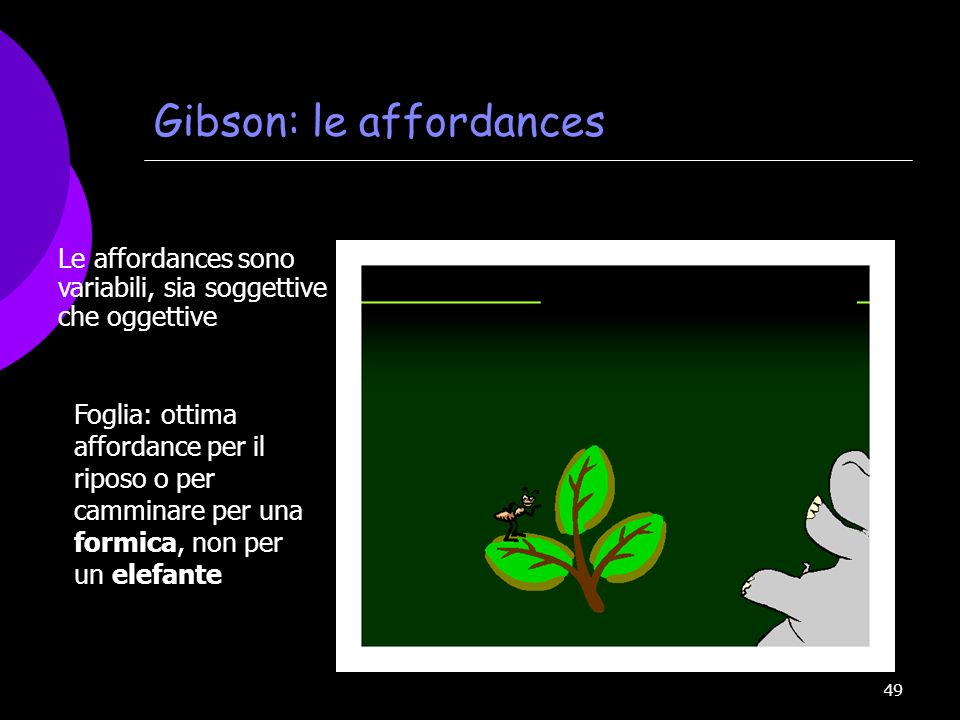Gibson: le affordances