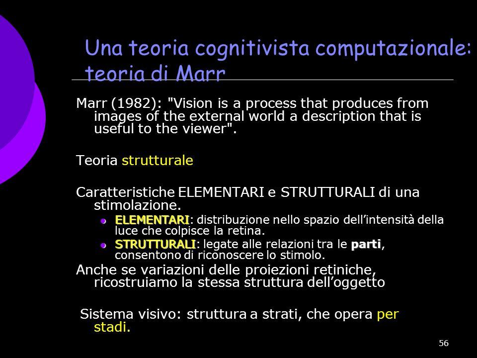 Una teoria cognitivista computazionale: la teoria di Marr