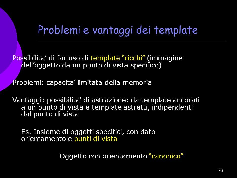 Problemi e vantaggi dei template