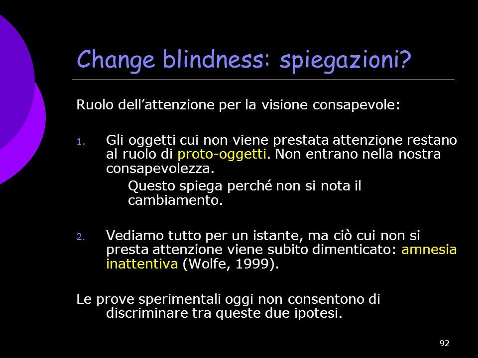 Change blindness: spiegazioni
