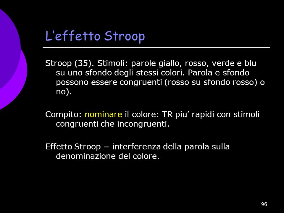 L'effetto Stroop