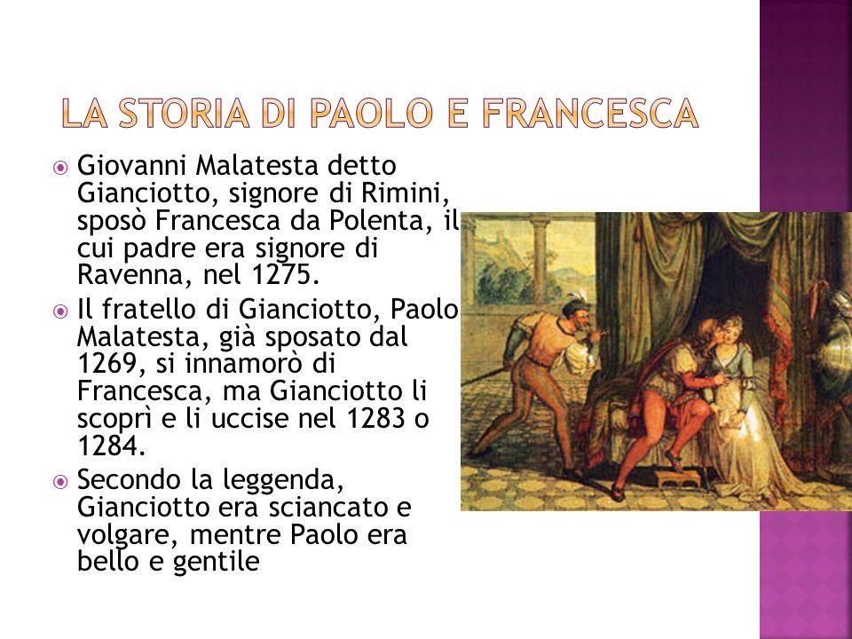 La storia di Paolo e francesca