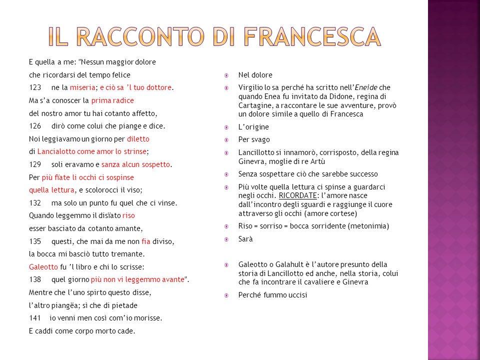 Il racconto di Francesca