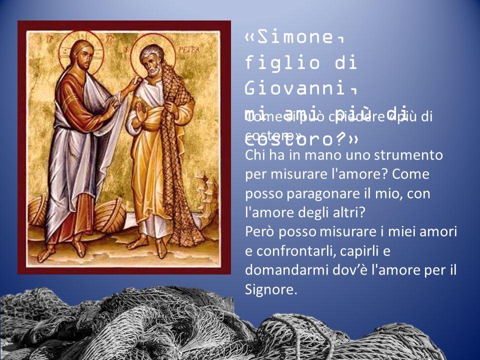 «Simone, figlio di Giovanni, mi ami più di costoro »