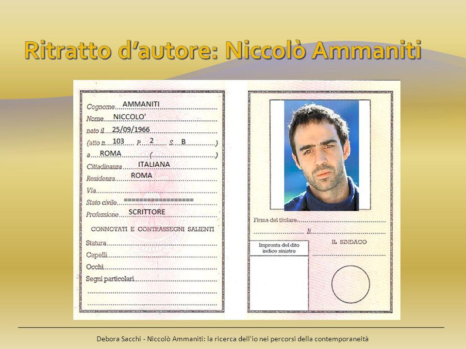 Ritratto d'autore: Niccolò Ammaniti