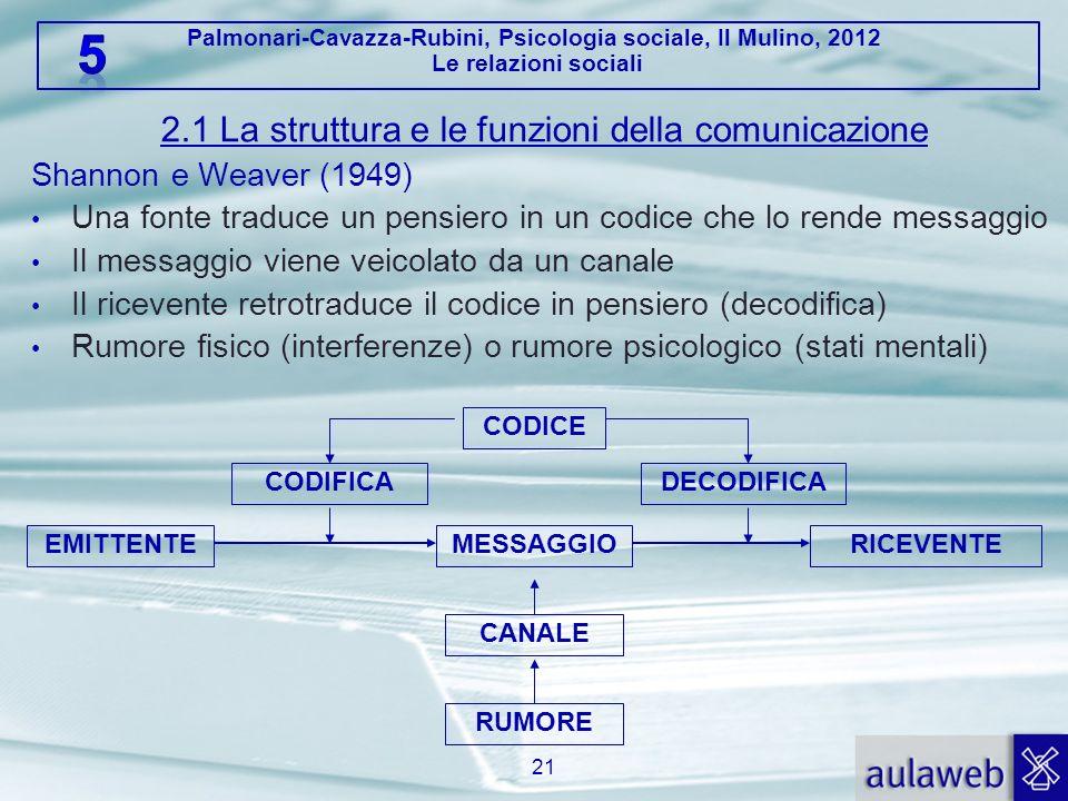 2.1 La struttura e le funzioni della comunicazione