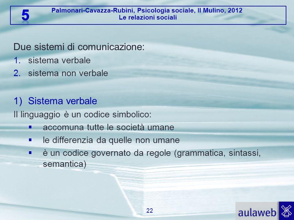 Due sistemi di comunicazione: