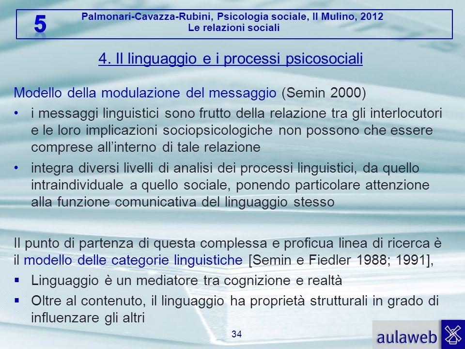 4. Il linguaggio e i processi psicosociali