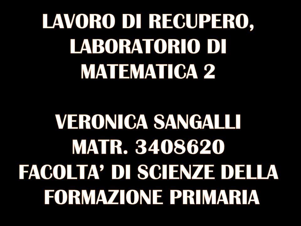 LABORATORIO DI MATEMATICA 2