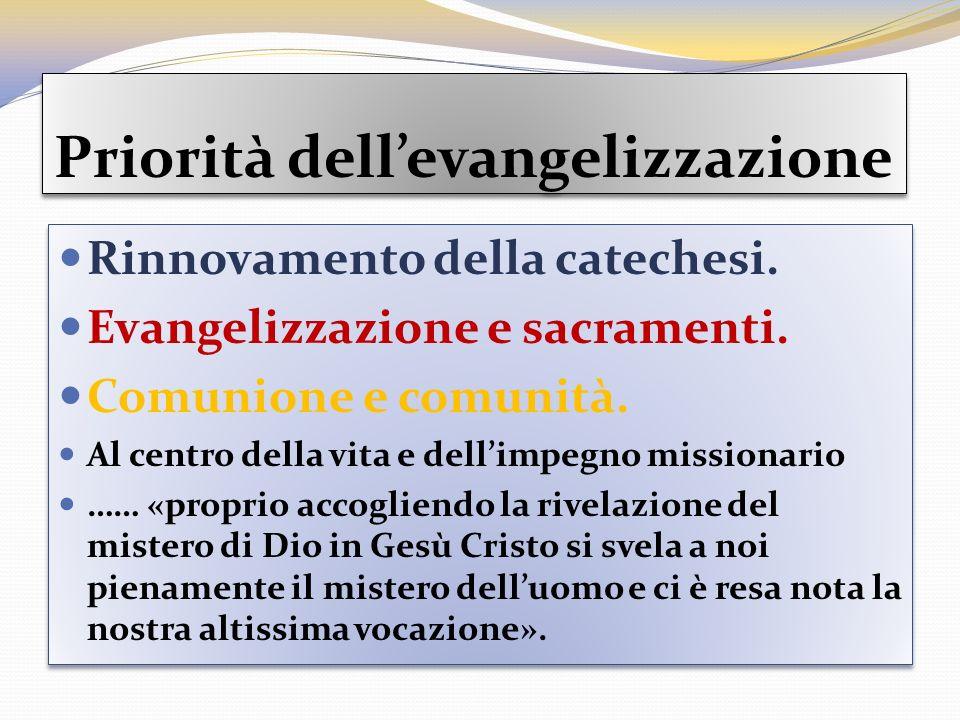 Priorità dell'evangelizzazione