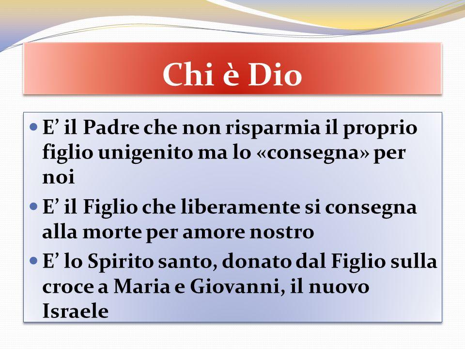 Chi è Dio E' il Padre che non risparmia il proprio figlio unigenito ma lo «consegna» per noi.