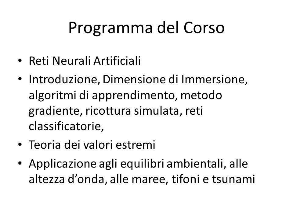 Programma del Corso Reti Neurali Artificiali