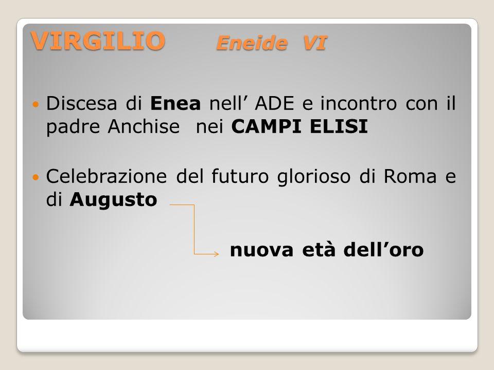 VIRGILIO Eneide VI Discesa di Enea nell' ADE e incontro con il padre Anchise nei CAMPI ELISI.
