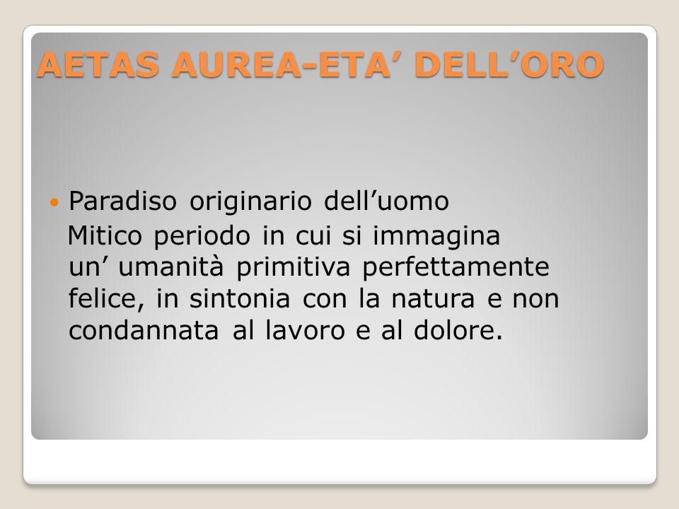 AETAS AUREA-ETA' DELL'ORO