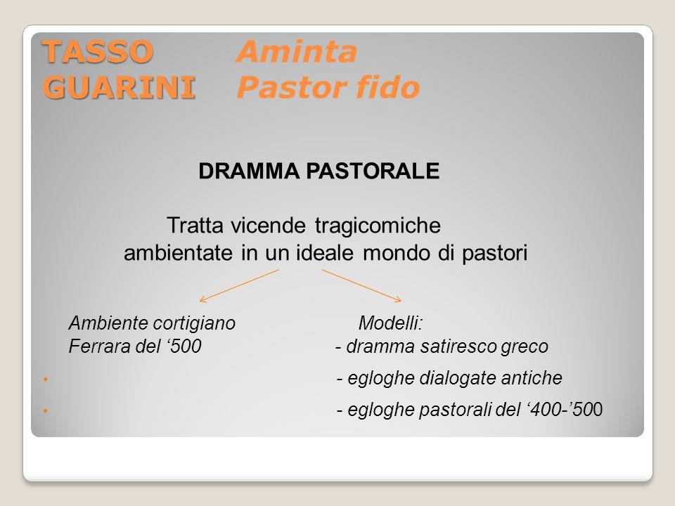 TASSO Aminta GUARINI Pastor fido