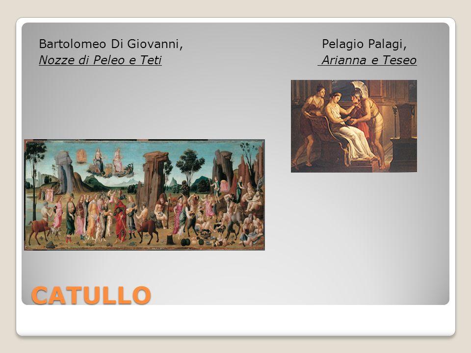 CATULLO Bartolomeo Di Giovanni, Nozze di Peleo e Teti Pelagio Palagi,