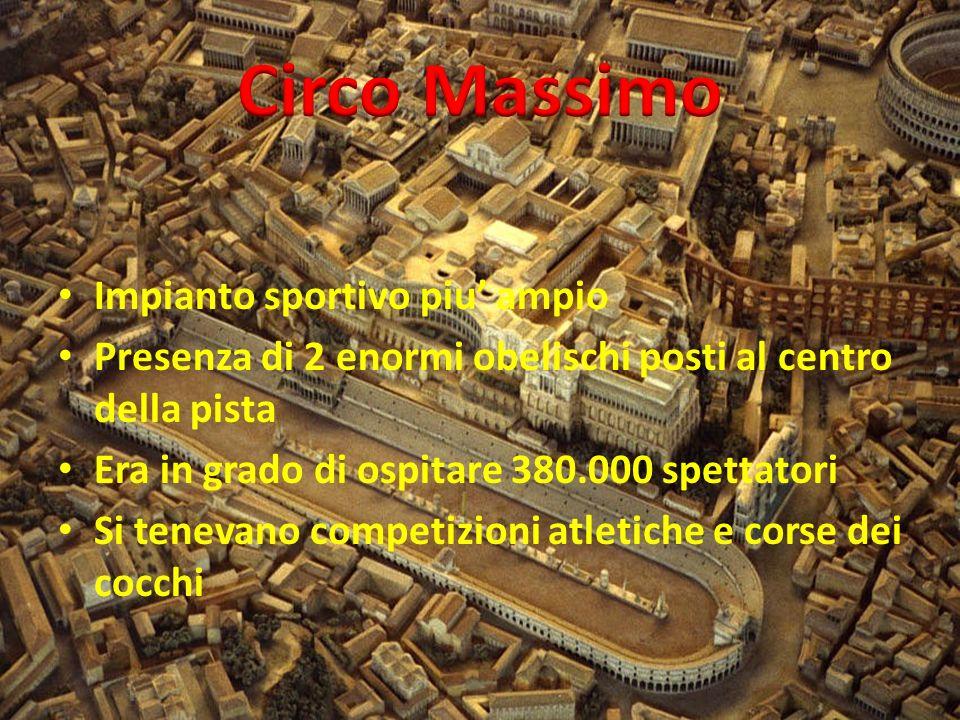 Circo Massimo Impianto sportivo piu' ampio