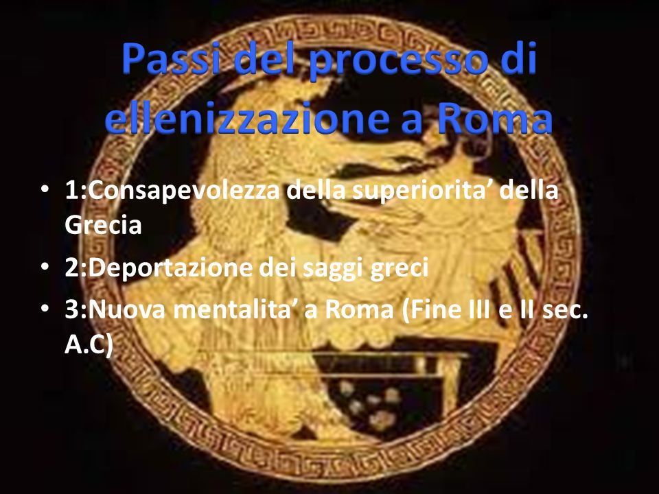 Passi del processo di ellenizzazione a Roma