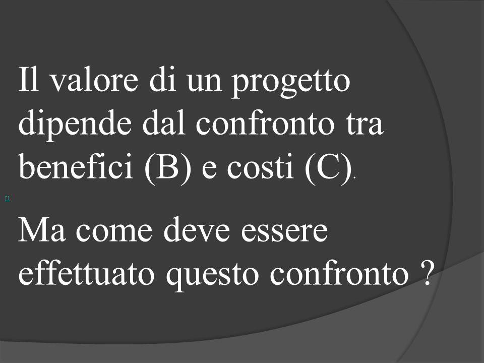 dipende dal confronto tra benefici (B) e costi (C).