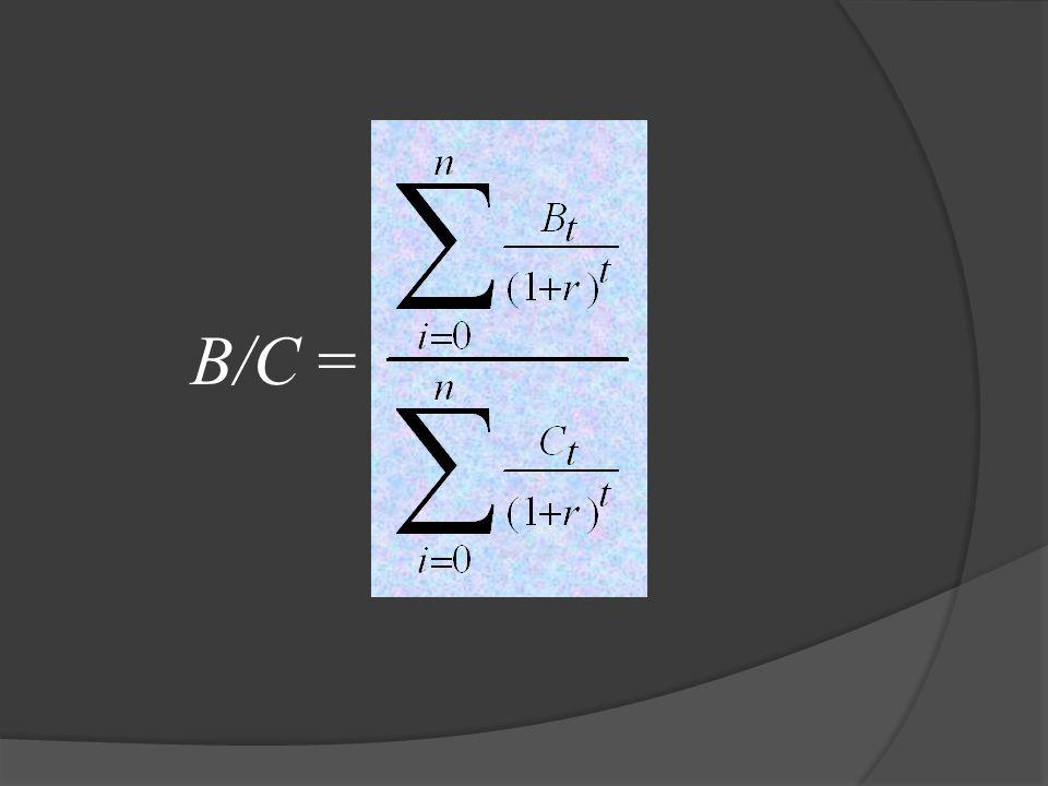 B/C =