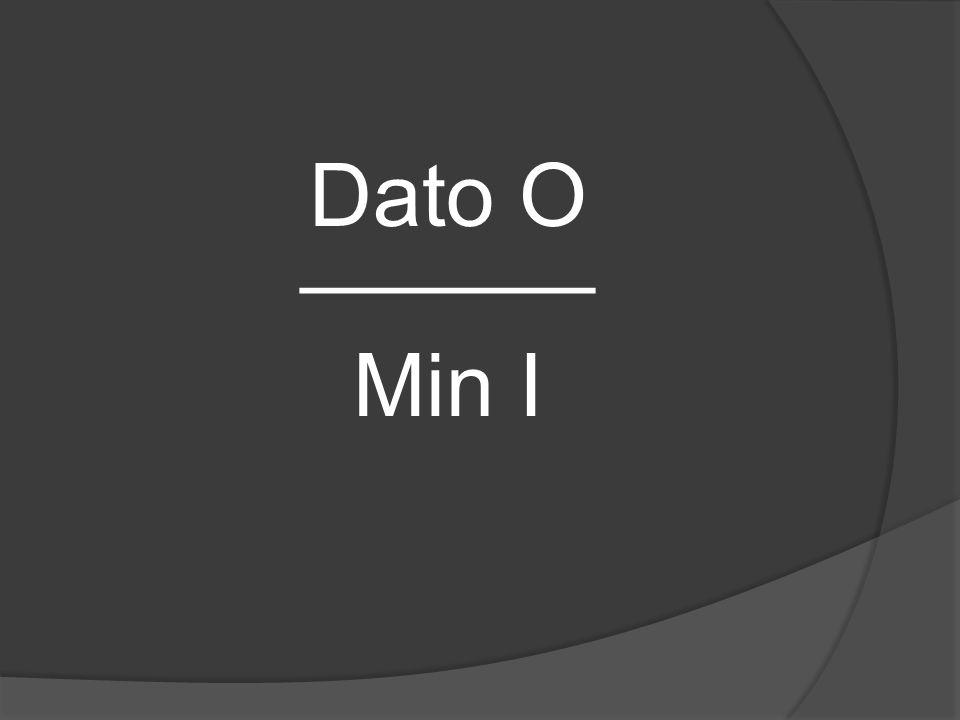 Dato O ______ Min I