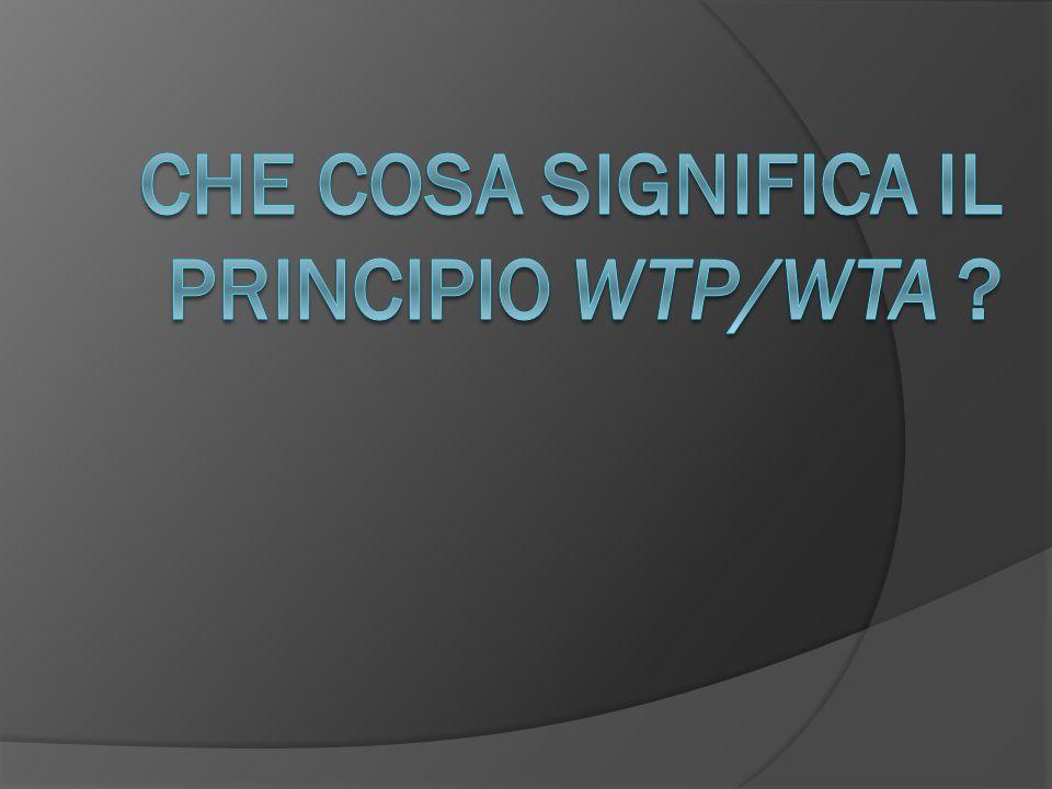 Che cosa significa il principio WTP/WTA