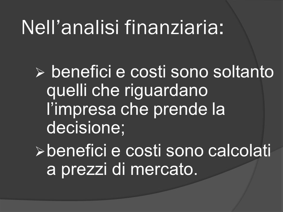Nell'analisi finanziaria: