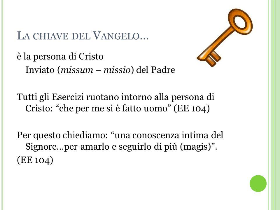 La chiave del Vangelo… è la persona di Cristo