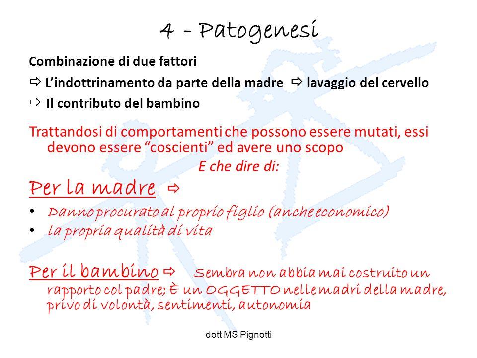 4 - Patogenesi Per la madre 