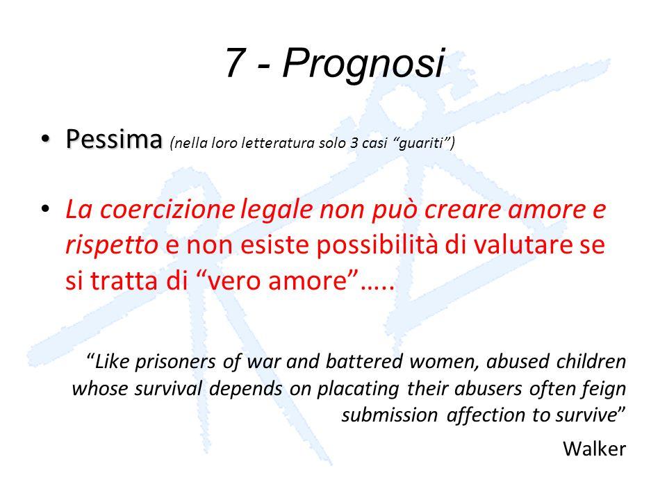 7 - Prognosi Pessima (nella loro letteratura solo 3 casi guariti )