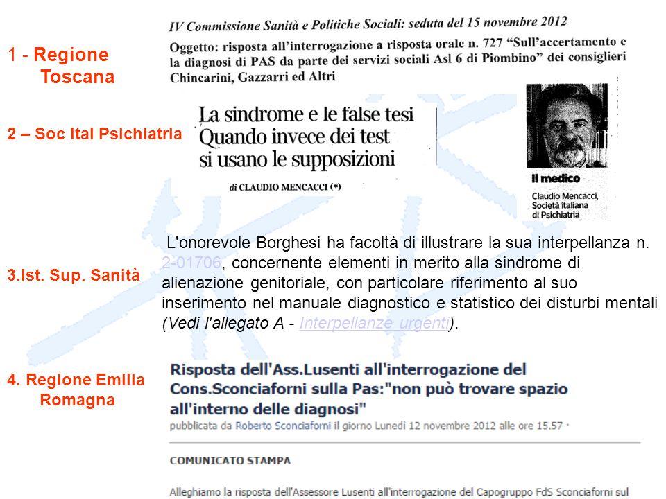 1 - Regione Toscana 2 – Soc Ital Psichiatria