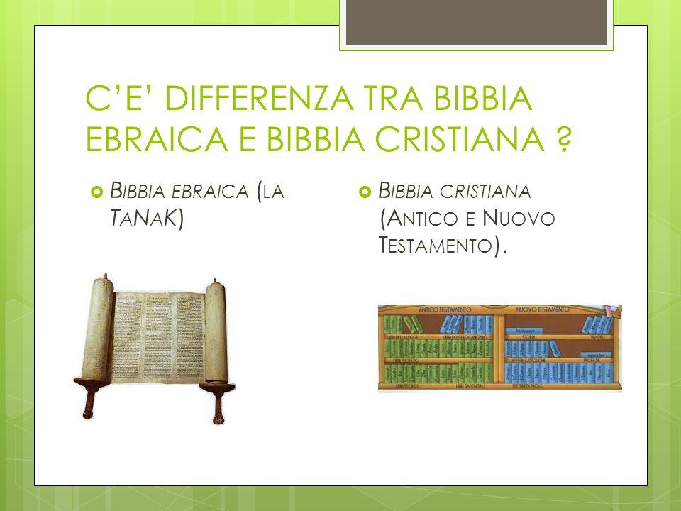 C'E' DIFFERENZA TRA BIBBIA EBRAICA E BIBBIA CRISTIANA