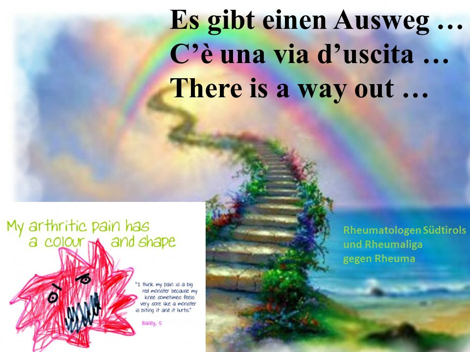 Es gibt einen Ausweg … C'è una via d'uscita … There is a way out …