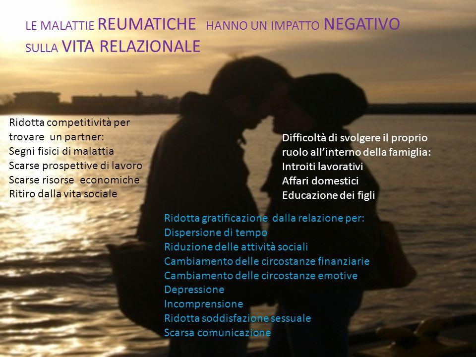 LE MALATTIE REUMATICHE HANNO UN IMPATTO NEGATIVO SULLA VITA RELAZIONALE