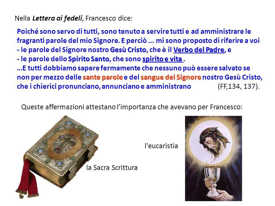 Nella Lettera ai fedeli, Francesco dice: