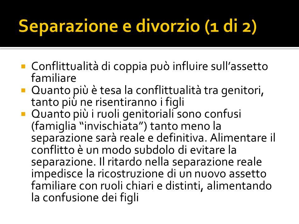 Separazione e divorzio (1 di 2)