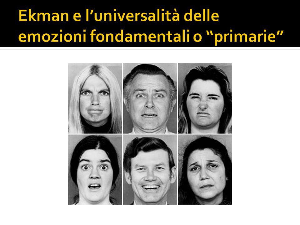 Ekman e l'universalità delle emozioni fondamentali o primarie