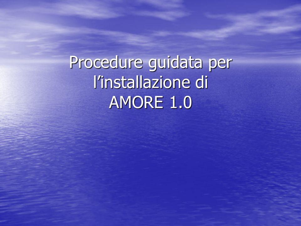 Procedure guidata per l'installazione di AMORE 1.0