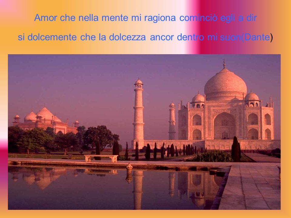 Amor che nella mente mi ragiona cominciò egli a dir si dolcemente che la dolcezza ancor dentro mi suon(Dante)