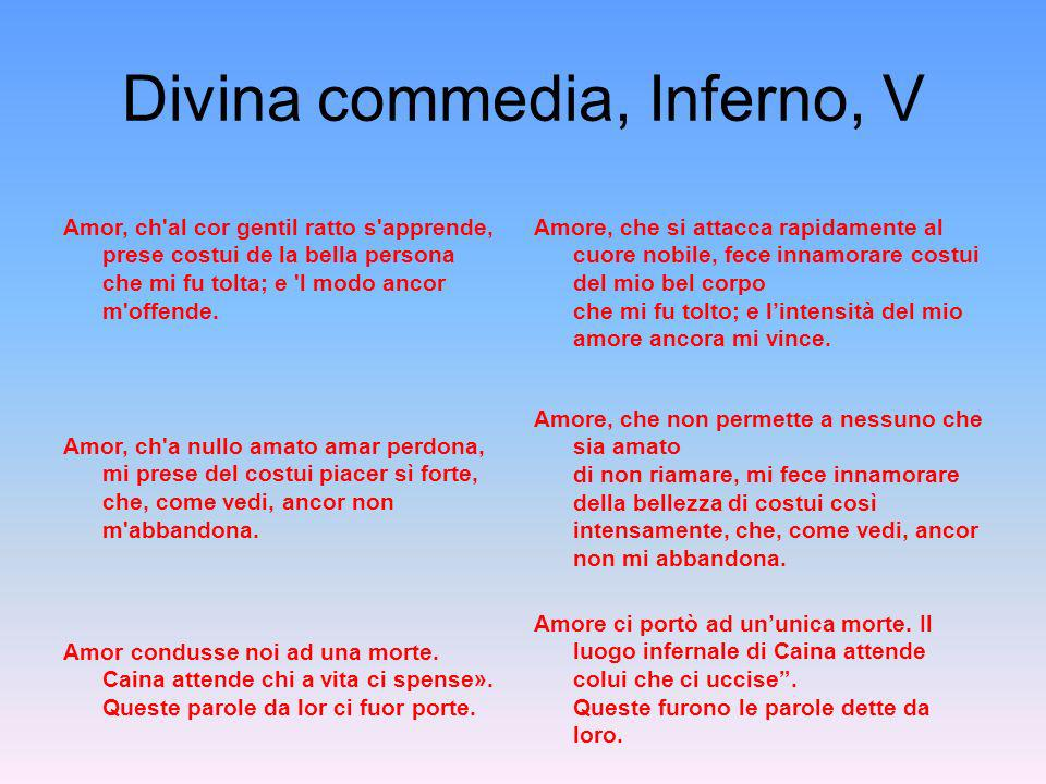 Divina commedia, Inferno, V