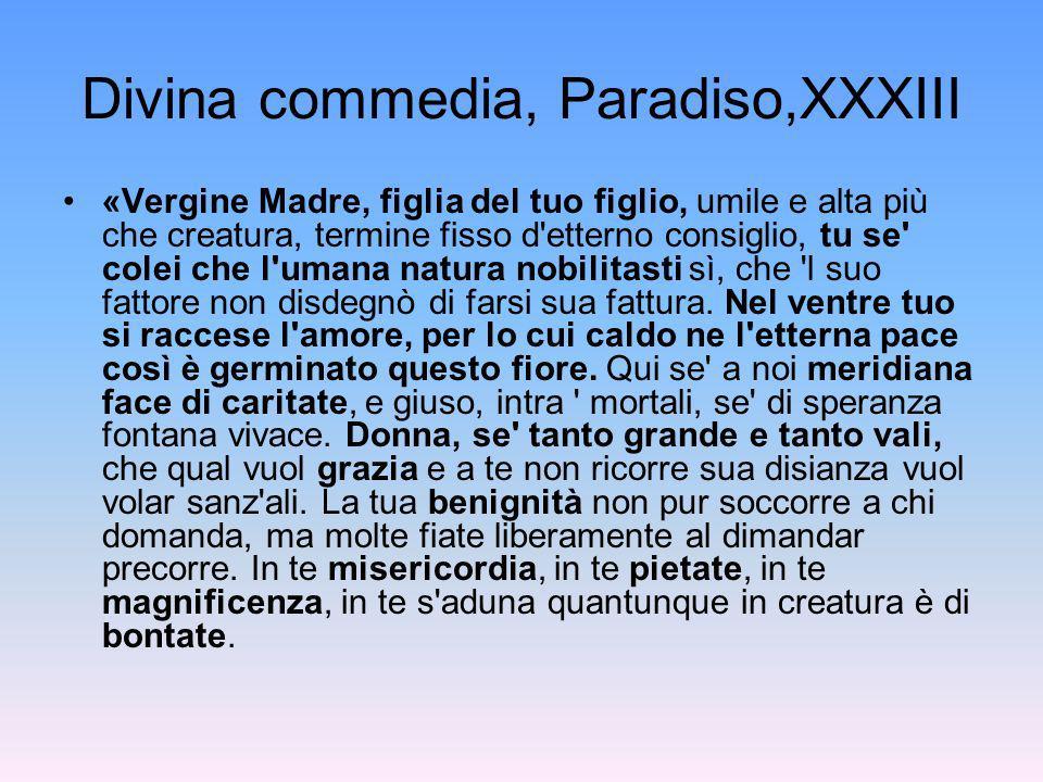 Divina commedia, Paradiso,XXXIII