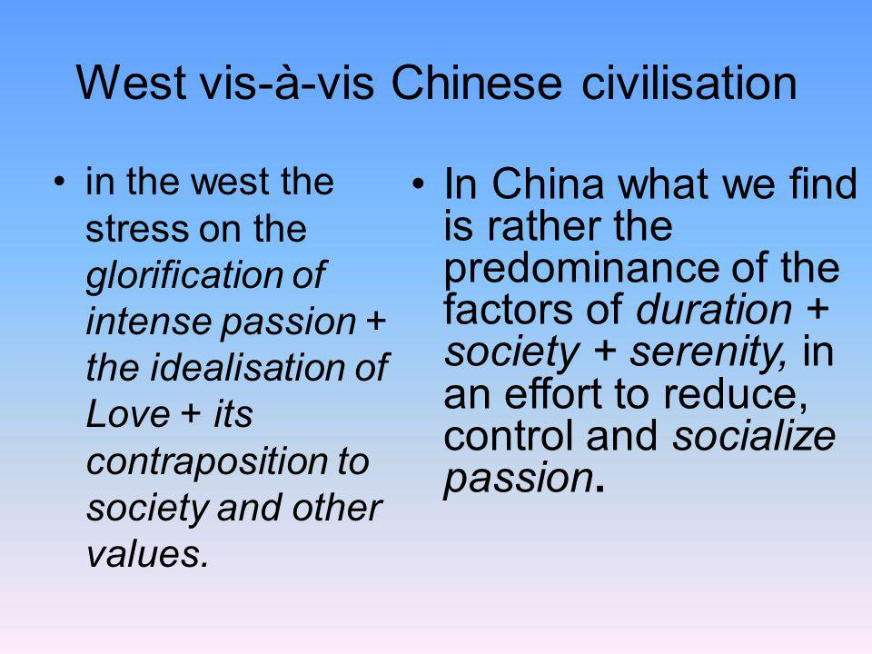 West vis-à-vis Chinese civilisation