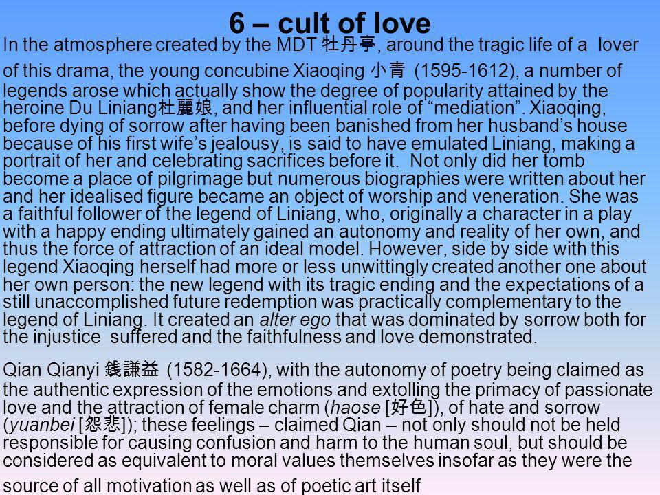 6 – cult of love