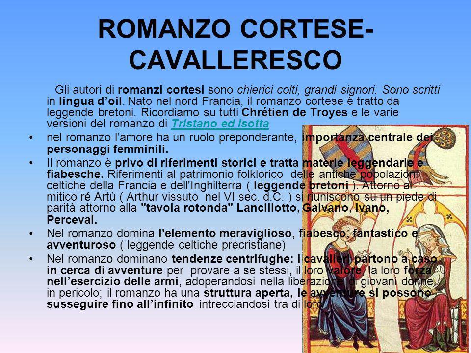 ROMANZO CORTESE-CAVALLERESCO