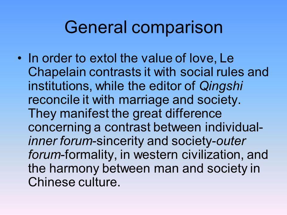General comparison