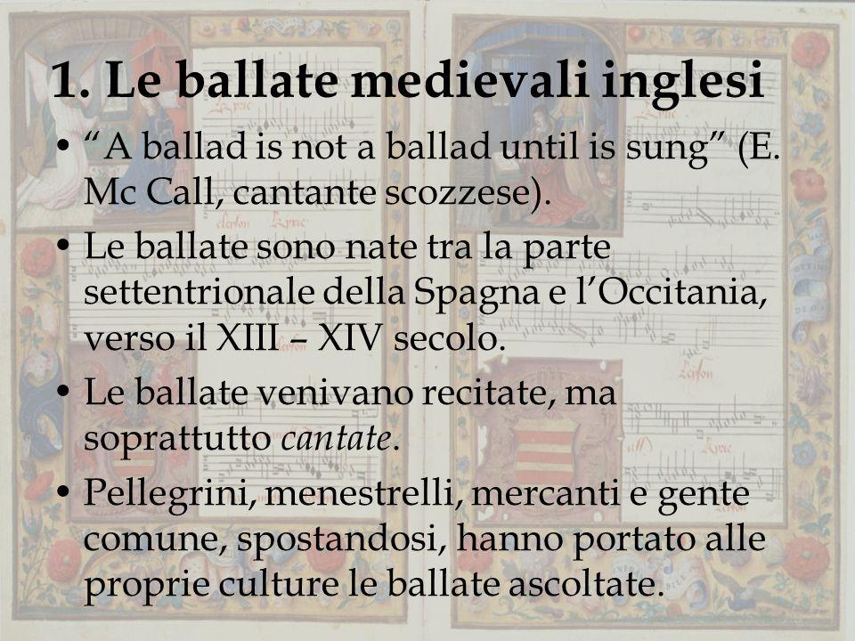 1. Le ballate medievali inglesi