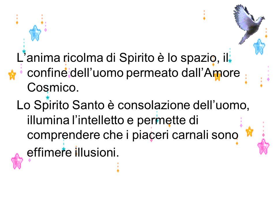 L'anima ricolma di Spirito è lo spazio, il confine dell'uomo permeato dall'Amore Cosmico.